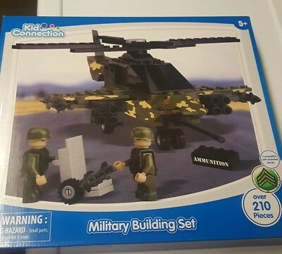 £7.27 • Buy Military Building Set Over 210 Pieces Kid Connection Helicopter Army Minifigures