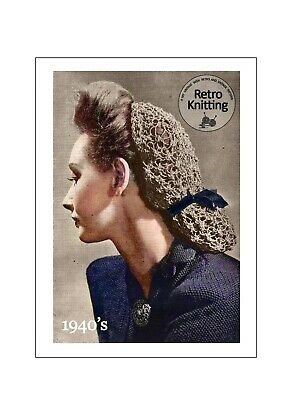 £3.99 • Buy 1940's Wartime Easy Snood Knitting Pattern Copy