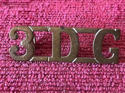 3rd Dragoon Guards Brass Metal Shoulder Title Badge British Army Military 56/20 • 10£