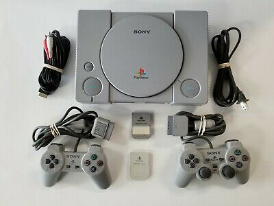 $ CDN131.13 • Buy Sony Playstation 1 PS1 Console - AUTHENTIC Controllers - TESTED - GUARANTEED