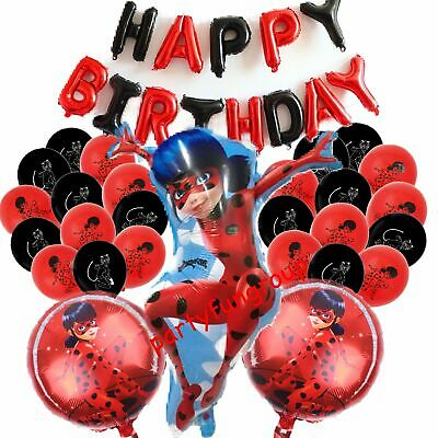 AU7.50 • Buy Miraculous Ladybug Balloons Helium Quality Birthday Balloon Decoration AU Stock