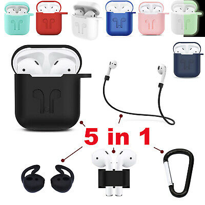 $ CDN7.02 • Buy 5 In 1 AirPods Case Kits Protective Silicone Apple Case Cover For Charging Case