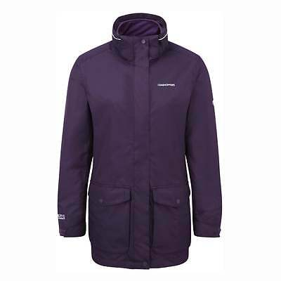 Womens Craghoppers Madigan Iii 3 In 1 Waterproof Jacket Dark Purple Cwp970 • 79.99£