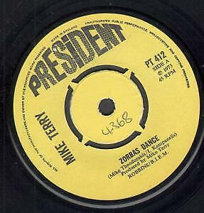 MIKE TERRY Zorbas Dance 7 INCH VINYL UK President 1973 B/W Victoria Roll Number • 5.24£