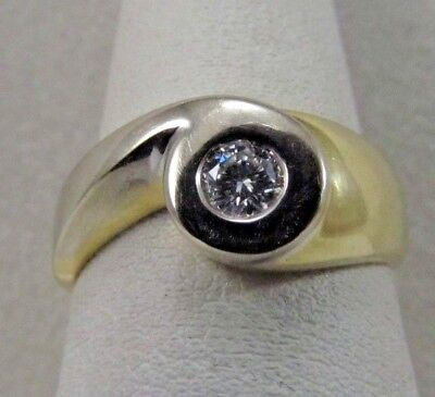 $559.55 • Buy 18K Solid Gold Custom Made Diamond Ring   Size 7   SALE-SAVE 1000. R426