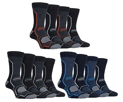 £8.99 • Buy Storm Bloc 4 Pack Mens Anti Blister Padded Walking Boot Socks With Arch Support