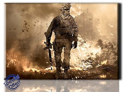 £24.99 • Buy Large Wall Art Canvas Picture Print Of Call Of Duty Framed