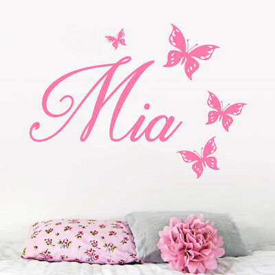 Personalised Name Wall Art Sticker Letter Baby Girls Bedroom Nursery Decal Cot • 8.99£