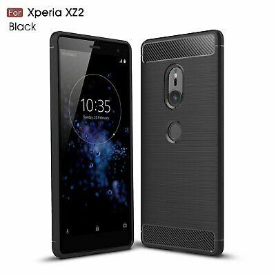 AU11.99 • Buy Sony Xperia XZ2 Case,Carbon Fiber TPU Cover Brushed Design For Sony Xperia XZ2
