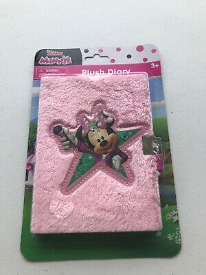AU7.35 • Buy BRAND NEW Unopened MINNIE MOUSE, PLUSH DIARY WITH LOCK And Key Disney Junior A47