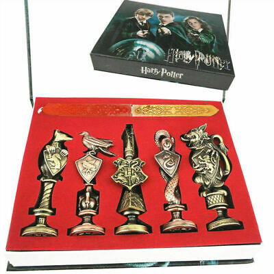 $29.95 • Buy New Harry Potter Hogwarts School Badge Vintage Wax Seal Stamp Set Collection Gif