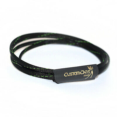 Custom Color Cable Wrap Kit Sennheiser HD25-1 II Braid Black & Green • 8.50£