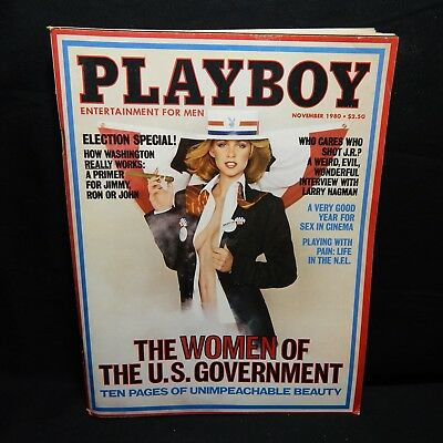 $ CDN15.51 • Buy Nov 1980 Playboy Magazine Center Fold Jeana Tomasino, Pictorial Women Of Gov