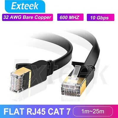 AU7.48 • Buy 1.8m~30m CAT7 RJ45 10Gbps Ethernet Network Lan Cable Flat Shielded Patch Lead