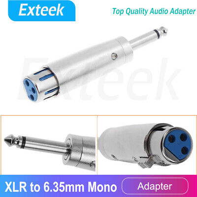 AU5.75 • Buy Female XLR Plug To 1/4  6.35mm Male Mono Jack Microphone Cable Audio Adapter