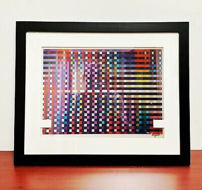 $1499 • Buy Yaacov AGAM Original Agamograph  Birthday Rainbow   Signed, Numbered & Framed