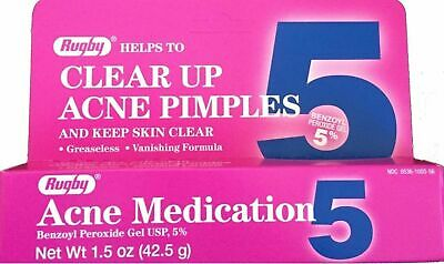 £3.18 • Buy  Benzoyl Peroxide Acne Gel 5% (Compare To OXY Balance) 1.5oz Tube Rugby