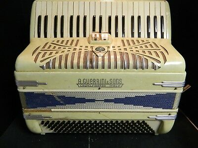 $ CDN402.82 • Buy Vintage A. Guerrini & Sons Ivory Mother Of Pearl Accordion 120 Bass 41 Keys Good