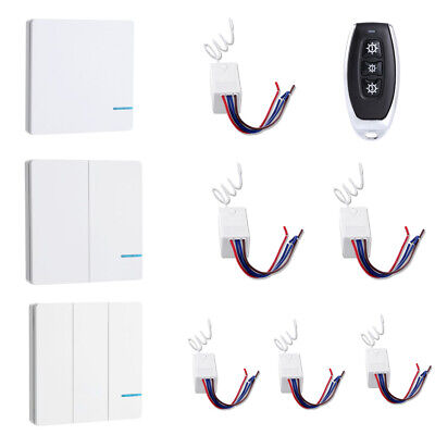 Smart Home Light Switch Receiver Wireless Remote Control Wall Lamp Kit 1 2 3 Way • 13.99$