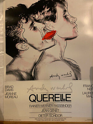 $650 • Buy 1982 Querelle Movie Poster With White Background Designed By Andy Warhol