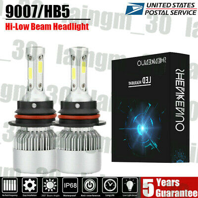 $18.95 • Buy Fit For 1999-2004 Ford Mustang Pair 9007/HB5 LED Headlight High-Low Beam Bulbs