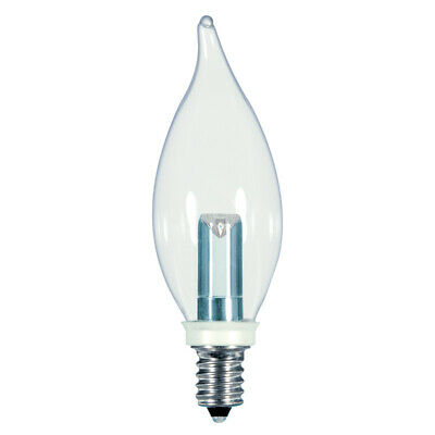 AU8.86 • Buy Satco 1 Watt CFC E12 Base Chandelier LED Flame Light Bulb - 2700K