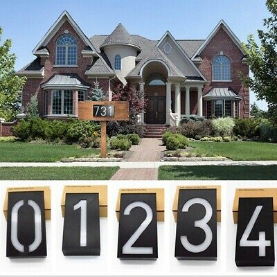 Solar Lighted Address Sign House Number Solar Powered IP Rating 65 6LED • 15.82£