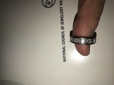 AU1000 • Buy 18ct White Gold Diamond Channel Set Stacker Ring