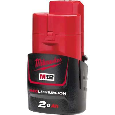 Milwaukee 12v Battery 2.0ah Battery M12B2 2.0ah Red Lithium-ion Battery • 31£