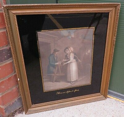 £75 • Buy Antique C19th Gilt-Framed 'Cries Of London' Engraving After F. Wheatley Print