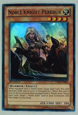 Yugioh Noble Knight Peredur LVAL-EN085 Super Rare 1st Edition • 0.99£