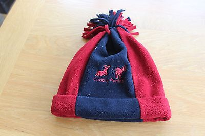 £3.99 • Buy Kids Dublin Cuddly Ponies Red & Navy Bobble Hat- One Size