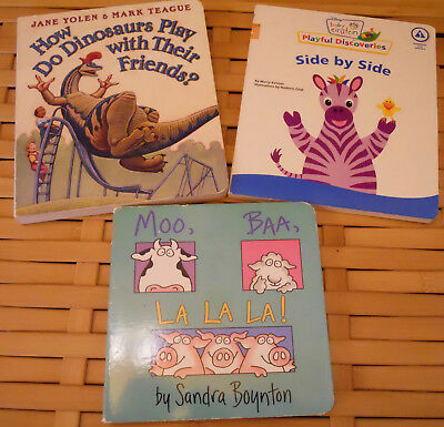 3 Board Book Lot : Moo Baa La La La By Sandra Boynton, How Do