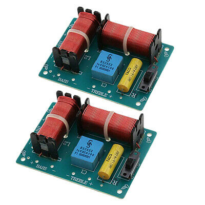 $ CDN16.58 • Buy 2Pcs Treble Bass 2-Way Frequency Divider Audio Crossover Filters Board 100W
