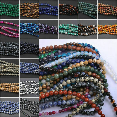 $ CDN1.99 • Buy Wholesale Natural Gemstone Round Spacer Loose Beads 4MM 6MM 8MM 10MM 12MM