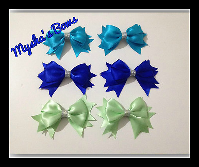 Large Satin Bow Hair Clips For Toddlers / Girls • 2.50£