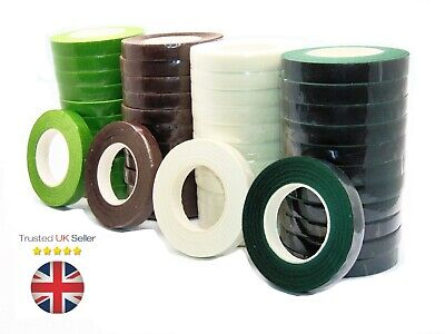 £1.79 • Buy WHITE Florist Stem Tape Wire Floral Work - Buttonholes Craft Floristry UK