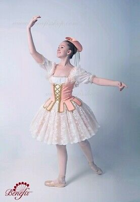 Women Professional Bodice Stage Costume Hat Tutu Ballet Theater For Girls P 0262 • 306.26£