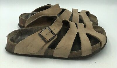 9d3391db35c7 Papillio By Birkenstock Brown Leather Slide Sandals Womens Size 38 • 27.99