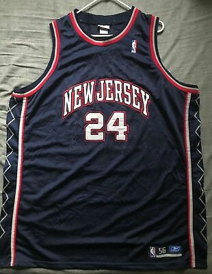 6437e3db226 Men s Reebok NBA New Jersey Nets Jersey Richard Jefferson  24 Size 56 •  24.99