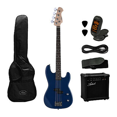 AU269 • Buy Electric Bass Guitar And Amplifier Starter Pack - Blue