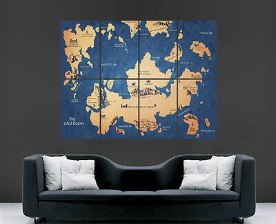 £17.99 • Buy Game Of Thrones Map Poster House Banner Wall Art Tv Series Image Huge