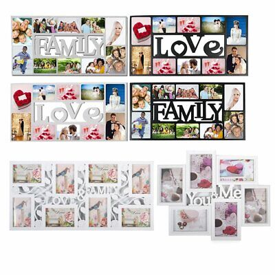 £14.99 • Buy STYLISH PHOTO PICTURE FRAME LOVE&family PHOTO Collage Aperture Wall Decoration