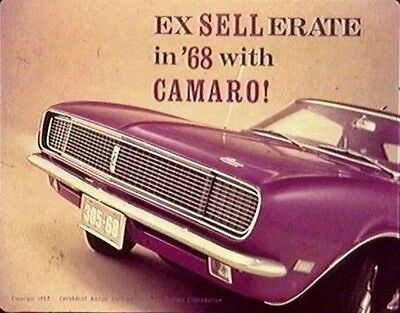 $8.88 • Buy 1968 Chevrolet Camaro Coupe SS Factory Footage On DVD