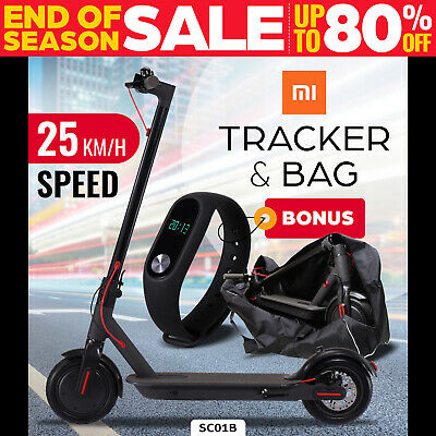 AU469 • Buy Electric Scooter 300W Foldable Portable Adult Kids Xiaomi Band Commuter Bike BLK