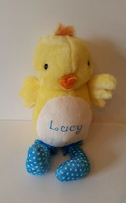 £10 • Buy Personalised Easter Chick, Duck Cuddly Toy, Newborn, 1st Birthday, ANY NAME