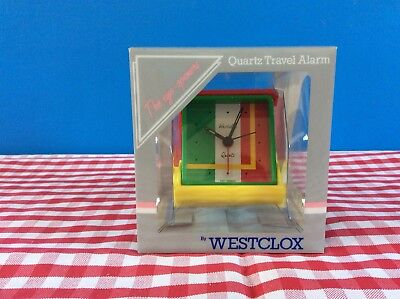 Funky Cool Westclox Voyager Travel Alarm Clock Red / Yellow 915857 • 1.49£