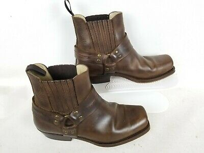 Sancho Abarca Shorty Style 5049 Men's Brown Cowboy Ankle Boots Size 41 US 7.5 • 39.79£