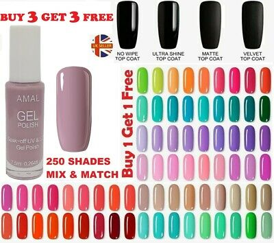 Gel Nail Polish Gel Polish Varnish Lacquer Top Base Coat Soak Off High Quality  • 0.99£