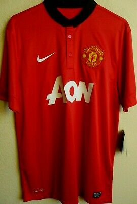 e1ea1db3a3f Nike Manchester United 2013 14 Home Soccer Jersey L NWT 532837 • 44.95